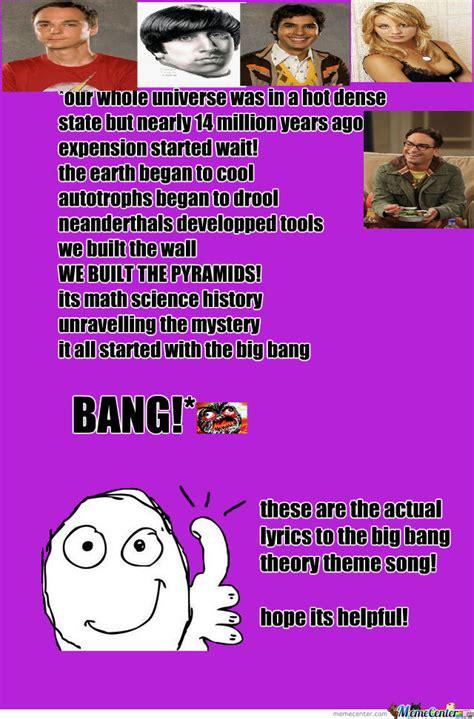 theme song big bang theory the big bang theory theme song by imfabulous meme center
