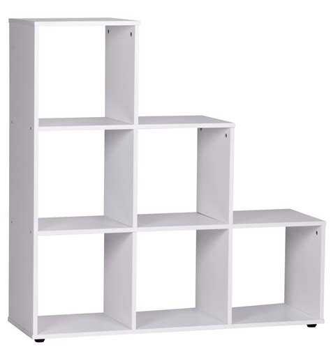 room dividers with storage shelving bookcase room divider book shelf storage white with 6 compartments new ebay