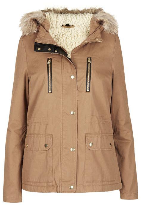 Hoodie Borg Navy February Merch womens parka coats topshop jacketin