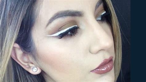 white eyeliner tutorial youtube white wing makeup tutorial youtube