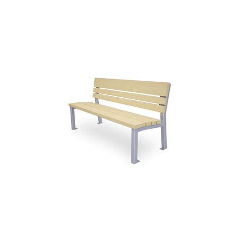rã ckenlehne sitzbank aus stahl und holz mit r 252 ckenlehne