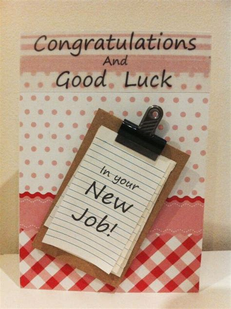 Handmade Congratulations Card Ideas - handmade luck in your new card card designs