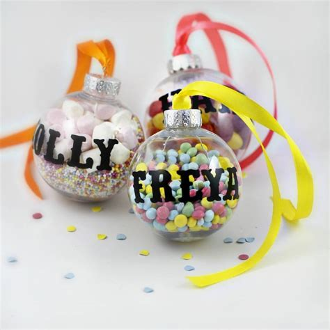 these personalised baubles are a fun and playful