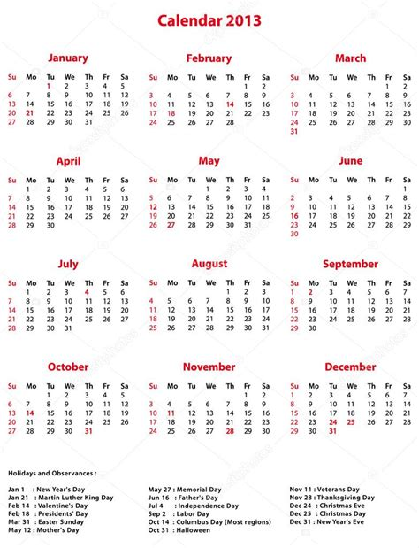 2013 calendar for office calendar template 2016