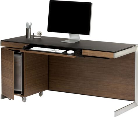 Walnut Computer Desks Bdi Sequel 6001 Walnut Computer Desk