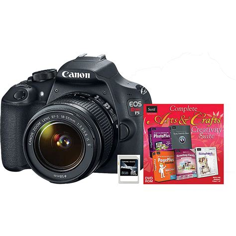 Memory Slr Canon Rebel T5 Eos 18mp Digital Slr With Lens
