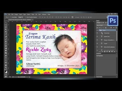desain kartu ucapan selapanan kartu ucapan aqiqah selapanan tutorial photoshop youtube