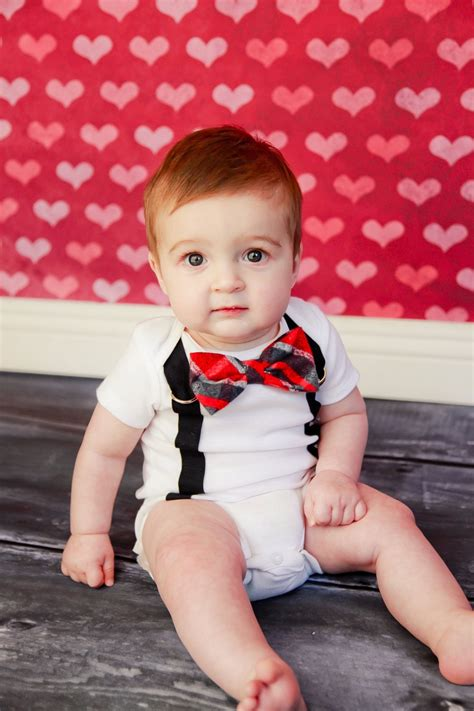 valentines day for baby boy baby boy bow tie bodysuit with suspenders knee