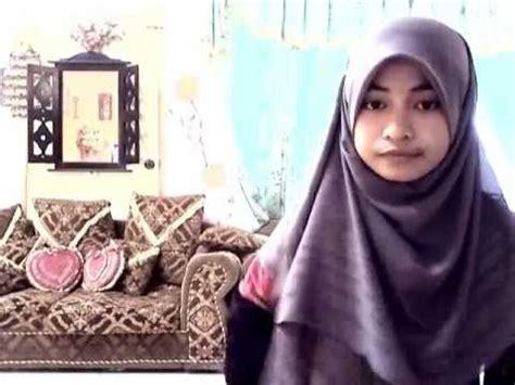 tutorial hijab pengantin nutup dada tutorial tudung labuh tutup dada youtube