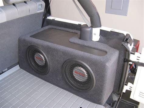 Jeep Wrangler Unlimited Subwoofer Box Custom Sub Boxes For Jeep Wrangler Jk