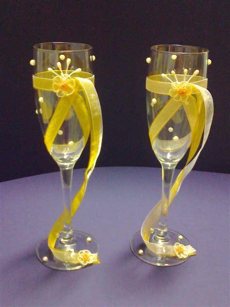 Manualidades Gavimar: Copas decoradas para boda