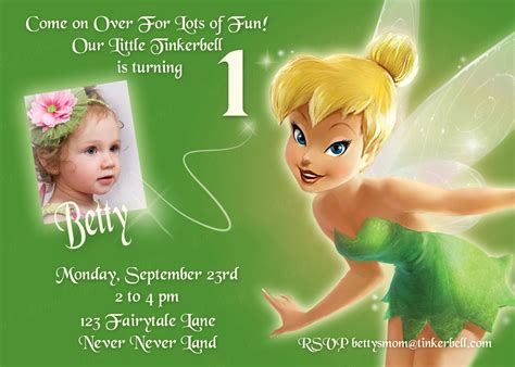 printable invitations tinkerbell tinkerbell printable invitation personalized tinkerbell
