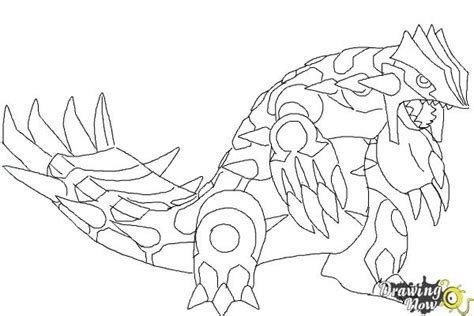 pokemon coloring pages primal groudon how to draw primal groudon from pokemon drawingnow