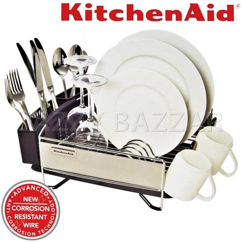 Kitchenaid 3 Pc Dish Rack by 3pc Kitchen Aid Black Stainless Steel Dish Drying Rack
