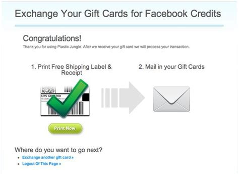 How To Exchange Gift Cards - how to exchange gift cards for facebook credits 171 internet