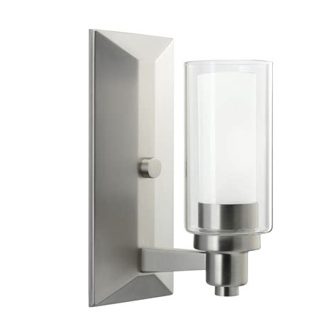 Brushed Nickel Sconces 1 Light Wall Sconce In Brushed Nickel Circolo Collection
