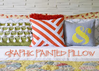 hearts and sharts graphic painted pillow the crafting chicks