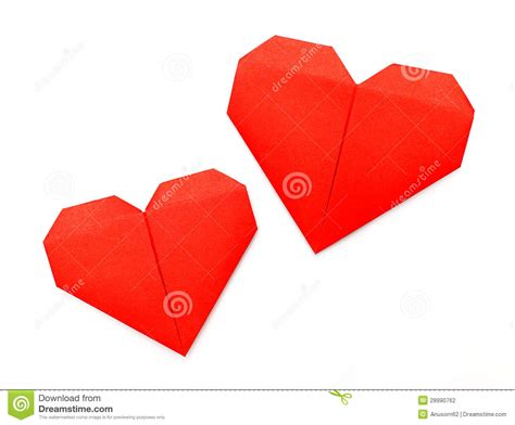 Paper Hearts Origami - origami paper stock photography image 28990762