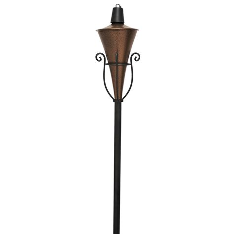 tiki metal scroll torch outdoor living outdoor lighting decorative lighting
