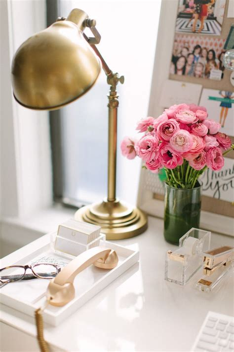 Gold Desk Accessories Glam Decor Kate Spade Office Design Workspace Ideas