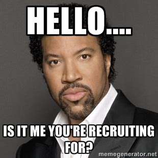Lionel Richie Hello Meme - how to use facebook ads to recruit top talent wordstream