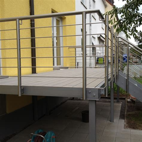 terrassengeländer edelstahl aussen gel 228 nder terrasse terrassengel 195 164 nder 233 2