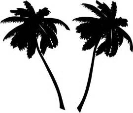 Palm tree silhouette vector free download palm tree black silhouette