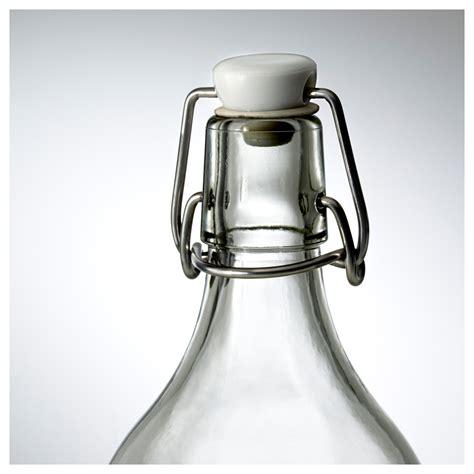 ikea korken glas korken fles met beugelsluiting helder glas 1 l ikea