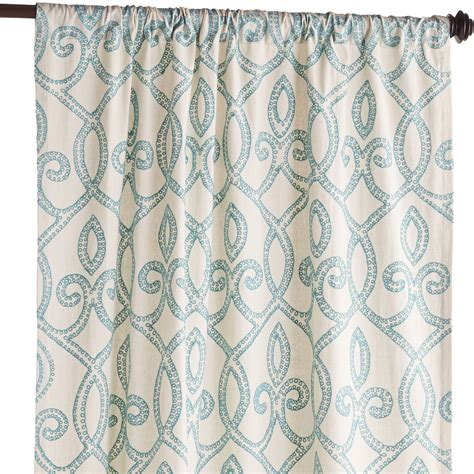 trellis pattern curtain panels turquoise trellis embroidered curtain everything turquoise