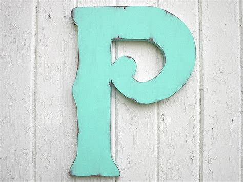 decorative letters to hang on wall decorative wooden letter p 18 wall hanging sign by
