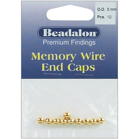 memory wire end beadalon memory wire end caps 5mm 10 pack walmart