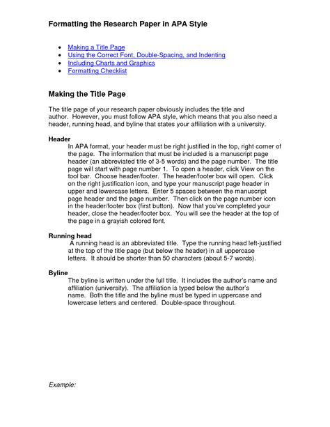 Format In Term Paper - counseling psychology section materials