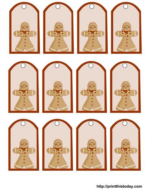 free printable gingerbread man labels free printable christmas gift tags