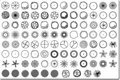 Landscape Design Shapes Plant Symbols