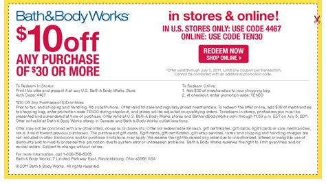 bath amp body works 10 off 30 qpon junkie