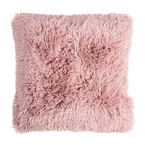 fellkissen rosa kissen hochflorig b 45cm x l 45cm altrosa depot de
