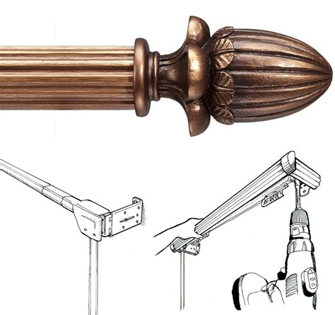 decorative traverse drapery rods barre custom 2 quot decorative traverse curtain rod extra
