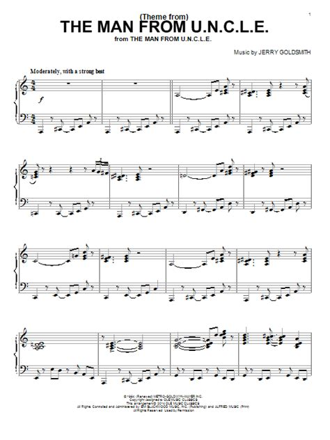 theme song man from uncle theme from the man from u n c l e sheet music direct