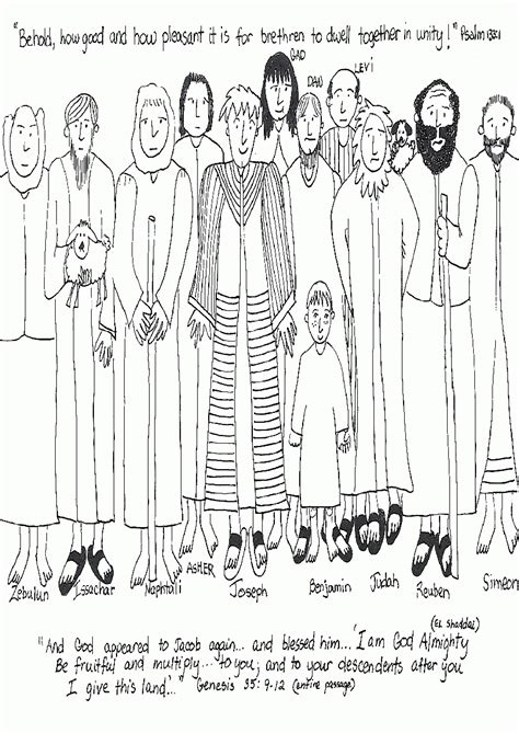 coloring pages of joseph and his brothers joseph and his brothers coloring pages coloring home