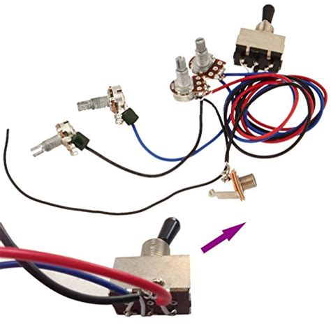 zorvo guitar wiring harness kit 2v2t 3 way toggle switch