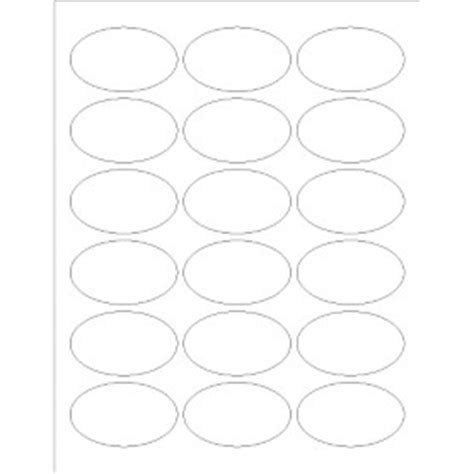 printable labels oval templates print to the edge oval labels 18 per sheet