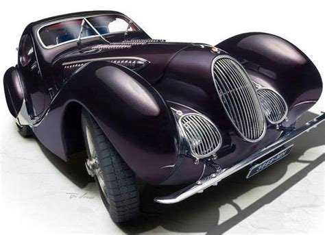 1938 Talbot Lago Coupe Type 150 Ss In Aubergine Plum In 1 18 By Cmc the 1938 talbot lago coupe type 150 ss memory edition by