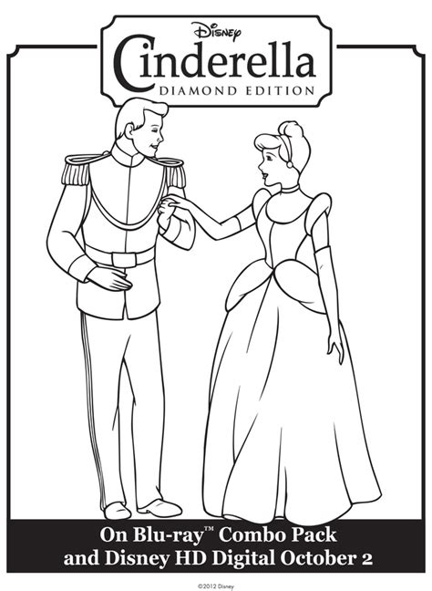 cinderella prince charming free printable coloring pages