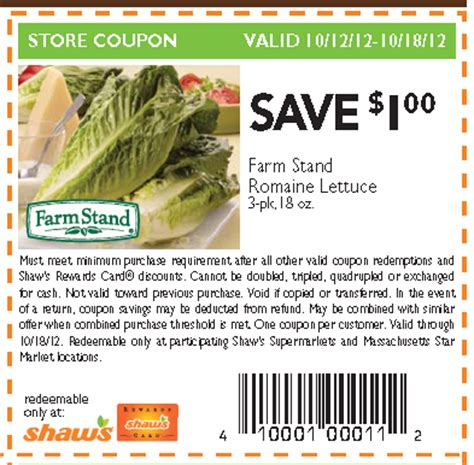 romaine lettuce coupons