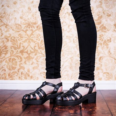 buy chunky sole platform gladiator sandal shoes