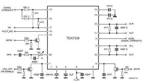 pull up resistor multiplex gt circuits gt tda7338 fm stereo decoder circuit l25333 next gr