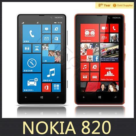 Bantal Mobil Set 8 Bordir Big Black Blue original lumia 820 nokia windows phone 8 4 3 quot 8gb rom 8 0mp nokia 820 mobile phone