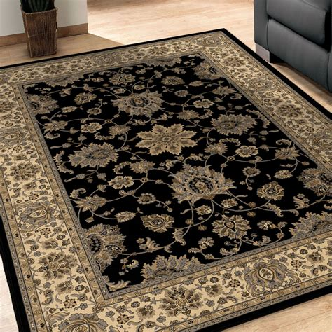 Xl Area Rugs Orian Rugs Detailed Design Traditional Borokan Black Area Large Rug 1235 9x13 Orian Rugs