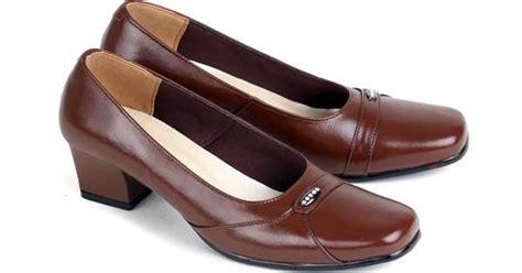 Heels Kulit model sepatu kerja wanita sepatu pantofel kulit wanita