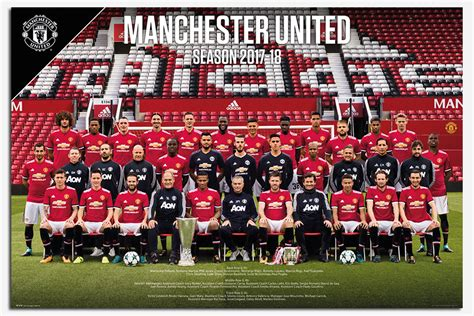manchester united official 2018 manchester united team photo 2017 2018 poster new maxi size 36 x 24 inch ebay